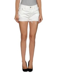 Htc Denim Shorts White