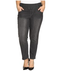 Jag Jeans Plus Size Amelia Pull On Slim Ankle Comfort Denim In Thunder Grey Thunder Grey Women's Gray
