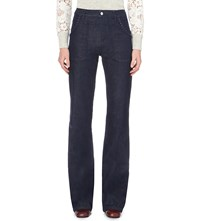 See By Chloe Flared High Rise Jeans Indigo