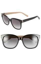 Bobbi Brown Women's 'The Gretta' 56Mm Colorblock Sunglasses Black Nude Black Nude