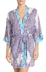 Women's In Bloom By Jonquil Paisley Print Short Robe