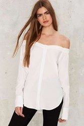 Stina Off The Shoulder Shirt White