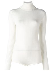 Courreges Turtleneck Pullover White