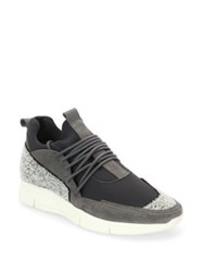 Android Suede Lace Up Sneakers Grey