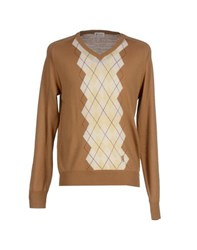 Pringle Of Scotland Knitwear Jumpers Men Camel