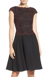Tadashi Shoji Women's Embroidered Lace Fit And Flare Dress