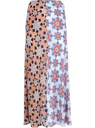 Jonathan Saunders Flower Print Skirt Multicolour