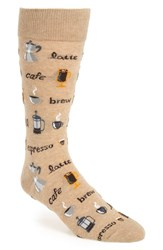 Hot Sox Men's 'Coffee' Socks Hemp Green