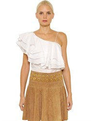 Designers Remix Manly Flare Cotton Top With Ruffles