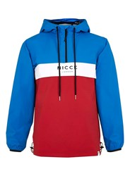 Topman Nicce Blue White And Red Colour Block Jacket Multi