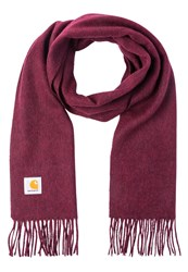 Carhartt Wip Clan Scarf Chianti Heather Mottled Dark Red