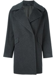 Tagliatore 'Agatha' Single Breasted Coat Grey