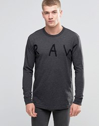G Star Etari Raw Long Sleeve Top Gs Grey Asfalt Black