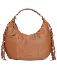 Tignanello Tribeca Leather Hobo Cognac