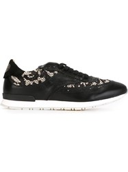 Twin Set Lace Panel Sneakers Black