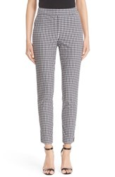 St. John Women's Collection 'Emma' Stretch Gingham Slim Leg Pants