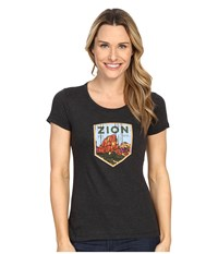 Columbia National Parks Tee Grey Heather Zion Women's T Shirt Black
