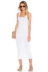 James Perse Long Slip Dress White