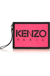 Kenzo Neon Canvas And Leather Pouch