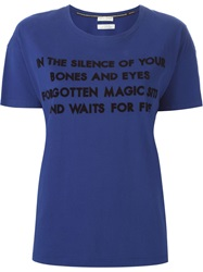 Each X Other Quote Print T Shirt Blue