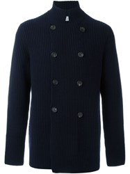Brunello Cucinelli Double Breasted Cardigan Blue