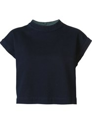 Ag Jeans Cap Sleeve Sweater Blue