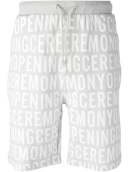 Opening Ceremony Printed Track Shorts Grey