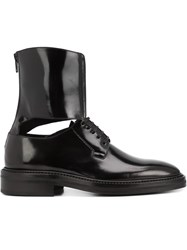 Yang Li Ankle Cuff Derby Shoes Black