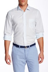 Gant R. Imported Fabric Solid Long Sleeve Trim Fit Shirt Blue