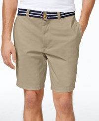 Club Room Men's Big And Tall Flat Front Shorts Only At Macy's