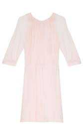 Paul And Joe Sister X Ella Rose Richards Silk Chiffon Dress Pink