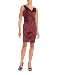 Chetta B Cotton Blend Sheath Dress Merlot