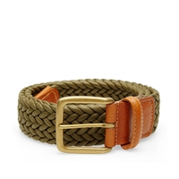 Andersons Anderson's Waxed Canvas Woven Belt Olive