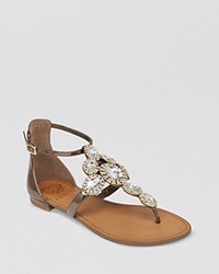Vince Camuto Jeweled Thong Flat Sandals Manelle