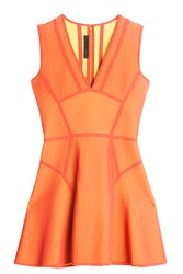 Elie Saab Flare Dress Orange