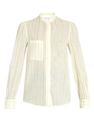 Etoile Isabel Marant Cotton Blend Striped Shirt White Multi