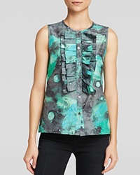 Marc By Marc Jacobs Tank Stargazer Voile Ruffle Front Multi