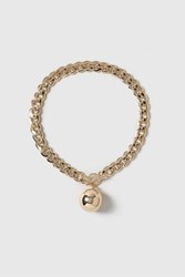 Topshop Chain Ball Necklace Gold