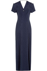 Roland Mouret Dress With Cut Out Shoulders And Back Blue
