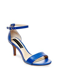 Steve Madden Vienna Leather Open Toe Strappy Sandals Blue