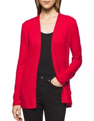 Calvin Klein Jeans Solid Studded Cardigan Jalapeno