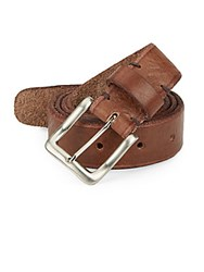 Will Leather Goods Skinny Skiver Leather Belt Brown