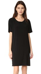 Norma Kamali Kulture Short Sleeve Boxy Dress Black