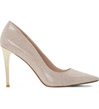 Dune Betsee Iridescent Heeled Courts Blush Metallic