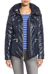 Women's Vince Camuto Hooded Down Jacket Navy