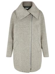 Kaliko Shawl Collar Biker Coat Mid Grey