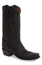 Men's Lucchese 'Austin' Western Boot Black Burnished