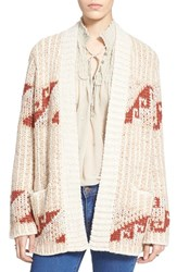 Women's Free People 'Time And Again' Loose Knit Cardigan Natural Combo