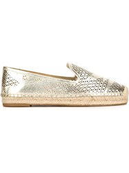 Vince Camuto Perforated Espadrilles Yellow And Orange