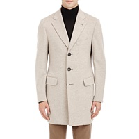 Isaia Melton Coat Cream